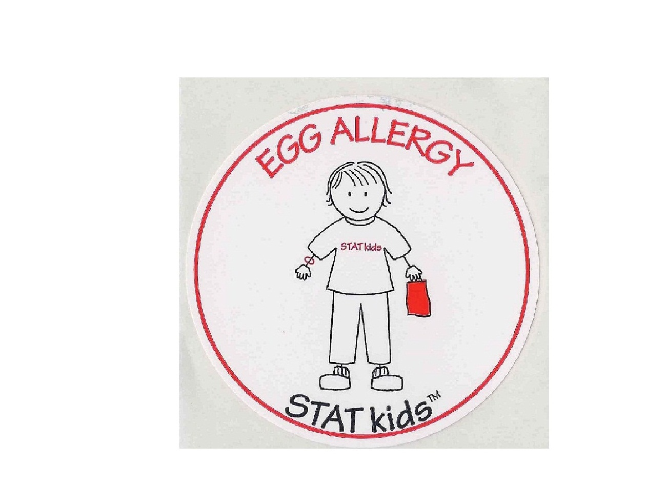 "STATkids - ""Egg"" Allergy Sticker Alert - 25 pack"