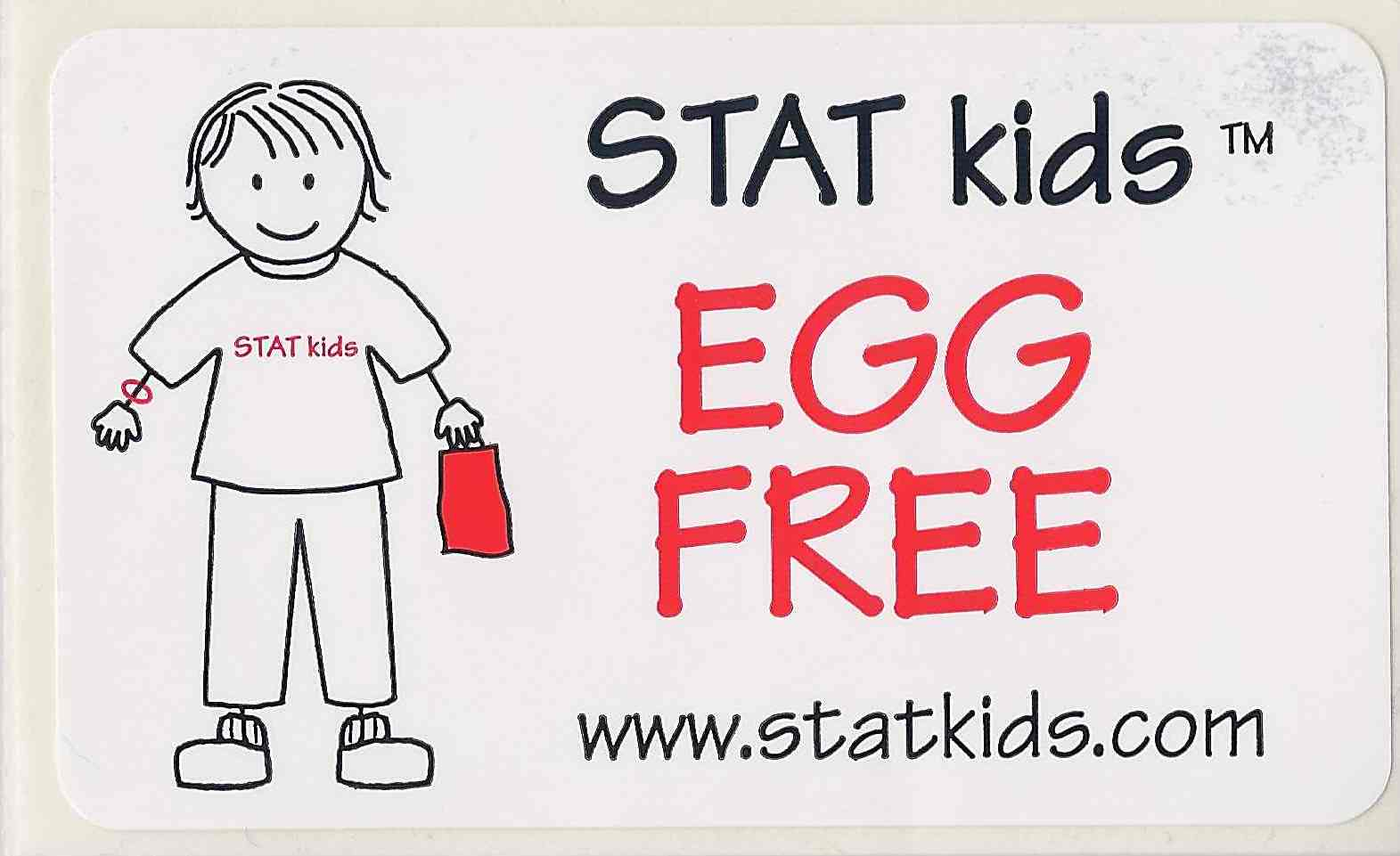 "STATkids - ""Egg Free"" Food ID Sticker - 25 Pack"