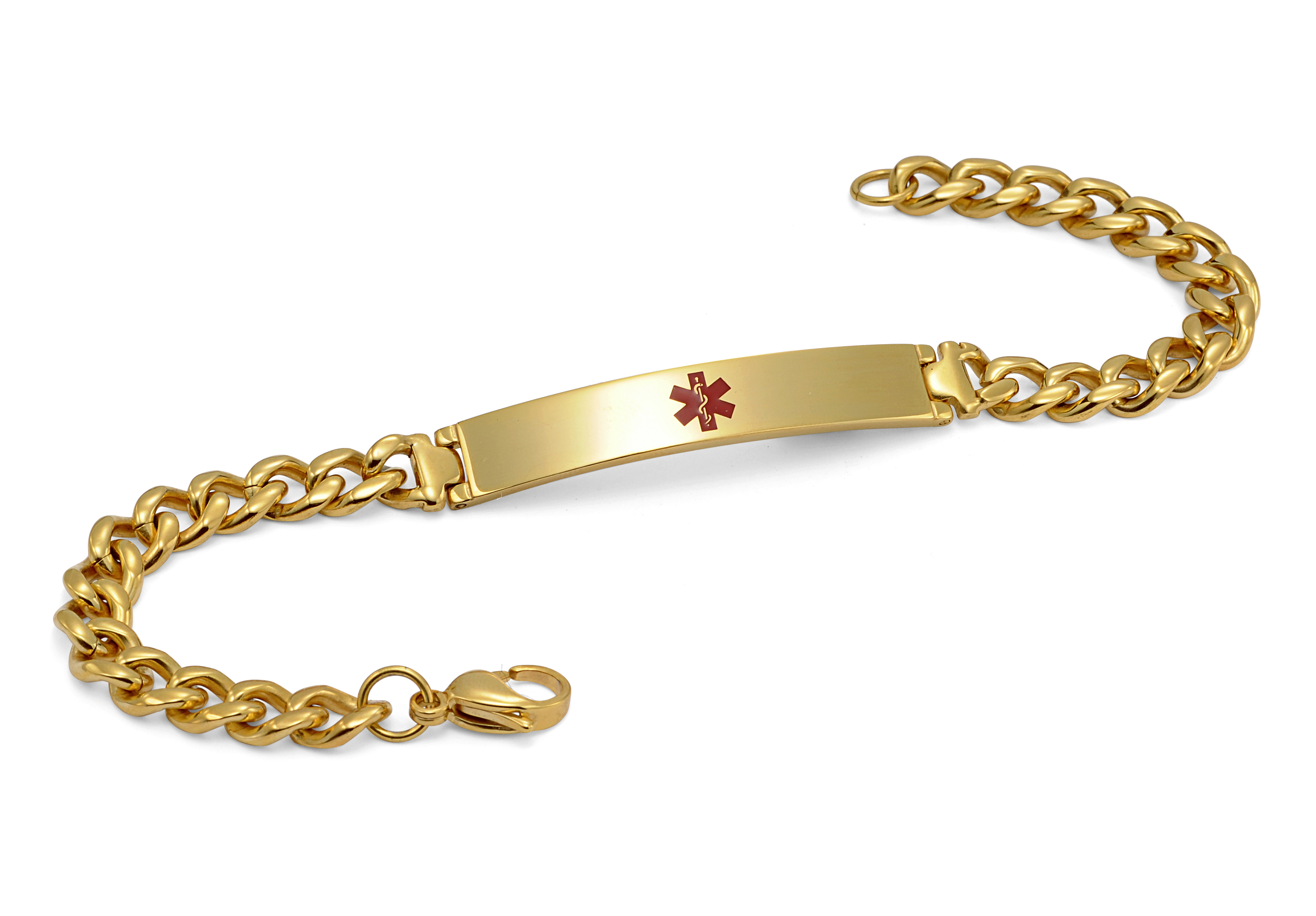Gold Plated Bracelet - Medical ID