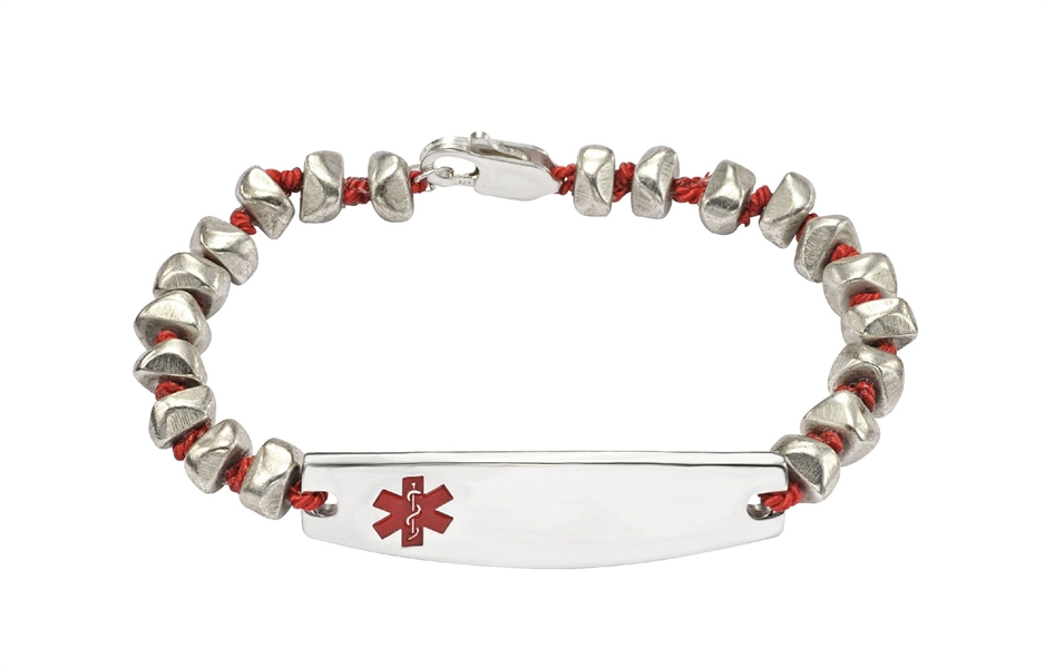 Cristina V Brass Bracelet - Medical ID