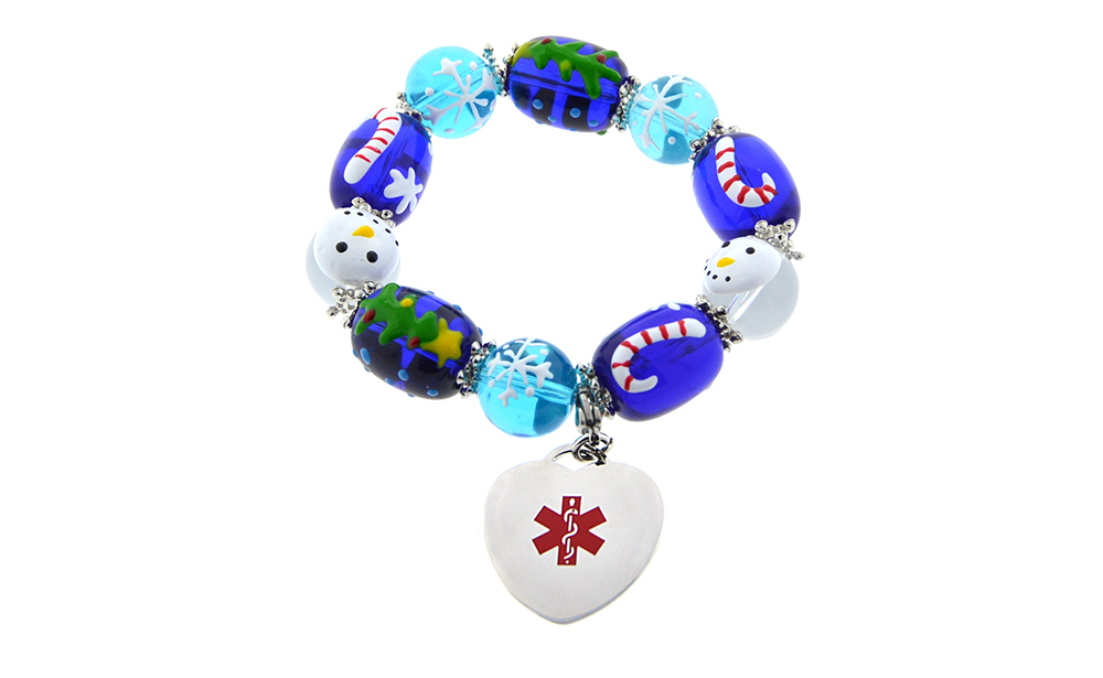 Snowed In -Beaded Bracelet - Medical ID