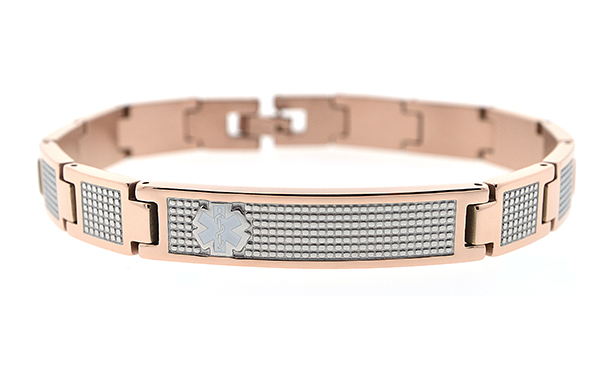 Rose Gold Plated Stainless Steel Bracelet