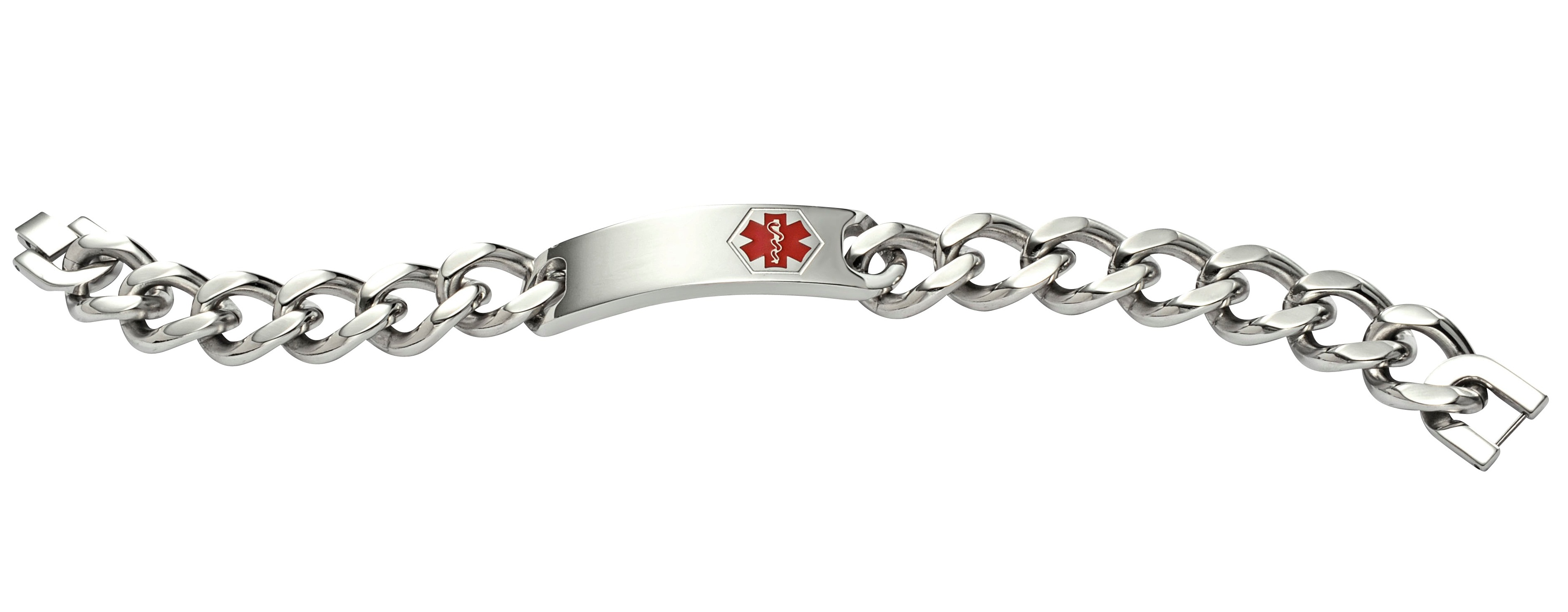 Stainless Steel Classic Wide Medical Bracelet - Medical ID