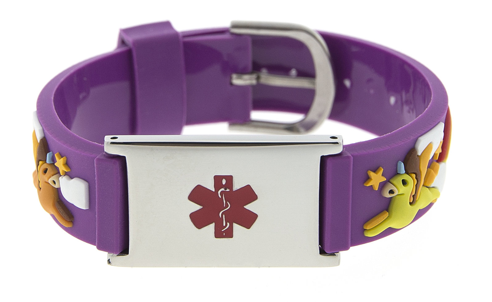 Over the Rainbow Rubber Watch Band Bracelet - Medical ID