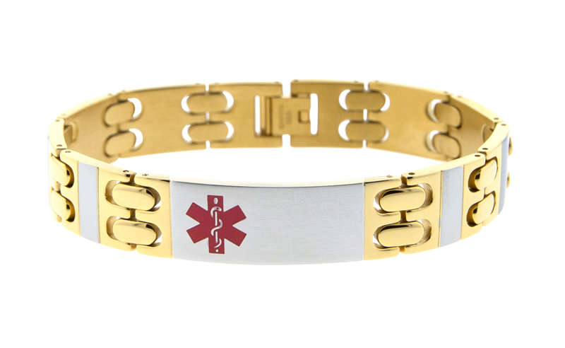 Gold Plated Two-Tone Stainless Steel Bracelet