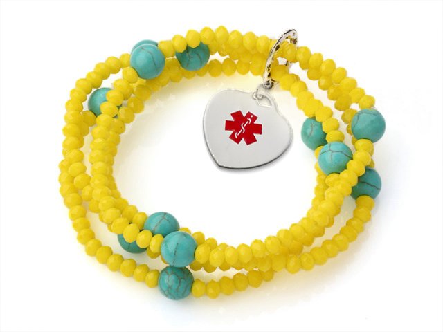 Lemon Twist Bracelet - Medical ID