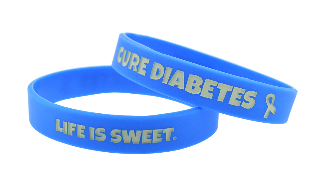 Life is Sweet. Cure Diabetes - Awareness Bracelet - Blue
