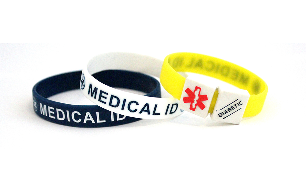 MediCube ID - 'Diabetic' Silicone Wristband