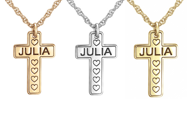 Personalized Child's Cross Pendant