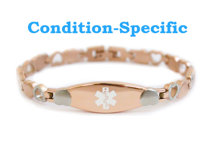 Condition Specific Rose Color Bracelet