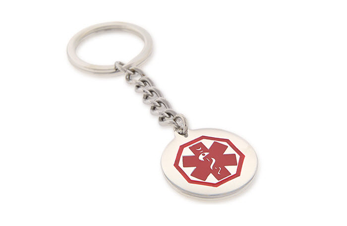 Stainless Steel Circular Key Chain