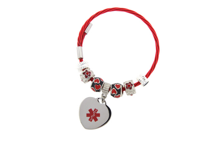 """Heart Strings"" Bracelet - Medical ID"