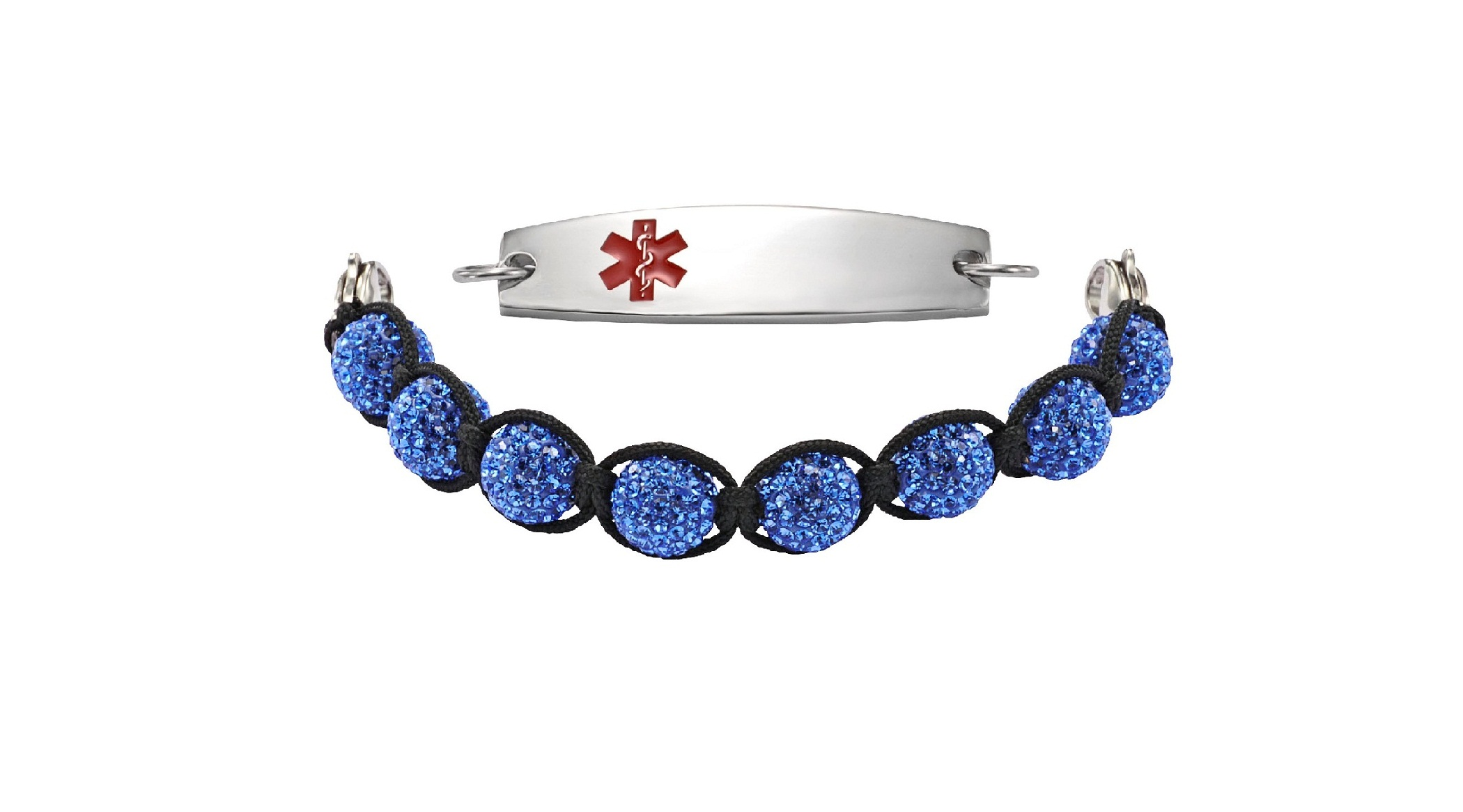 Pave Crystal w/ Sparkle Beads - 7 - Medical ID