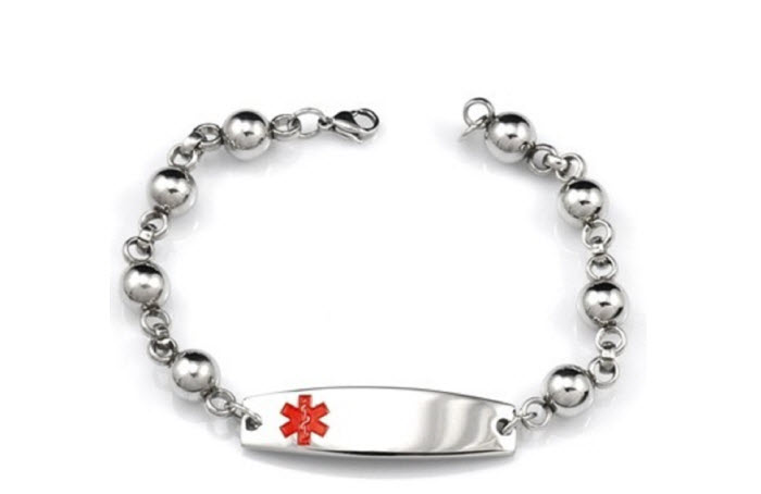 Beaded Style Stainless Steel - Medical ID