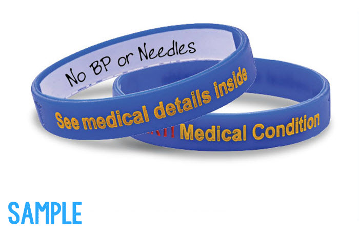 Mediband - Medical Condition Write Your Own Information Inside - Blue