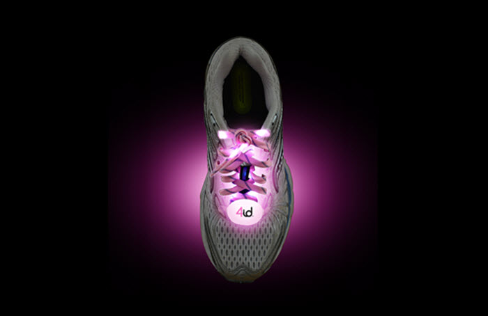 PowerLacez Pink - LED Shoelaces