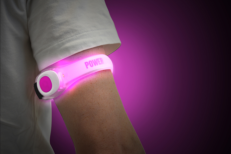 PowerArmz Pink - Adjustable LED Armband
