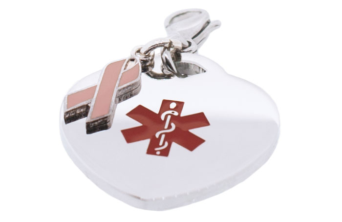 Heart Medical Charm - BC Ribbon