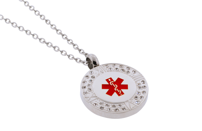 Crystal Design Pendant - Medical ID