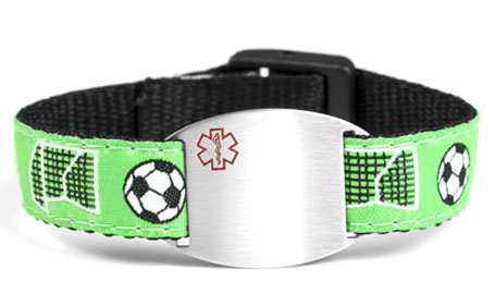 Play On - Childrens Sports Band Bracelet - Medical ID