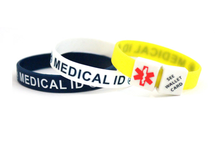 MediCube ID - 'See Wallet Card' Silicone Wristband