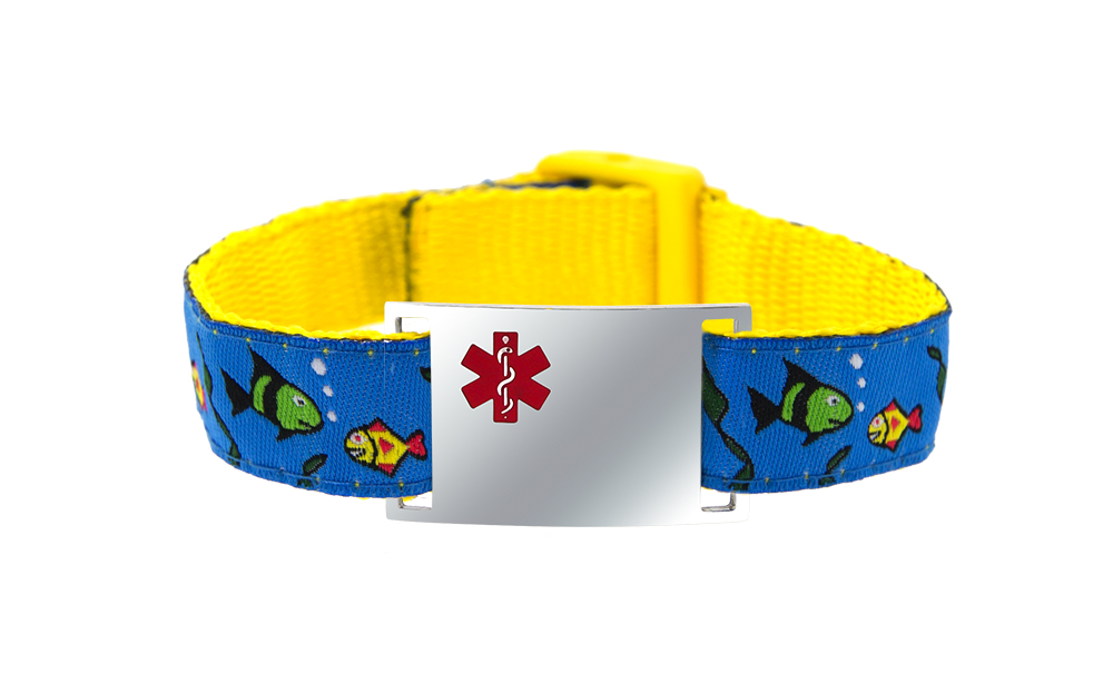 Gone Fishin' - Children's Sports Band Bracelet - Medical ID