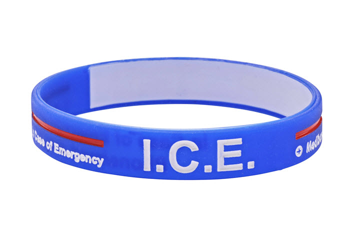 "Mediband - ""In Case of Emergency"" Write Your Own Information Inside - Blue"