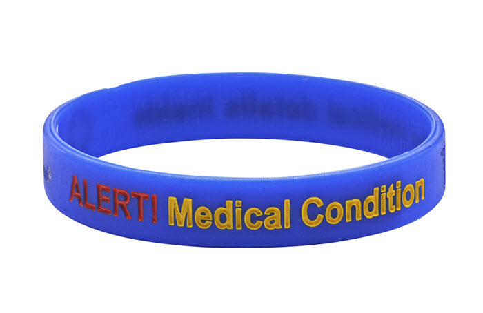 "Mediband - ""Medical Condition"" Write Your Own Information Inside - Blue"