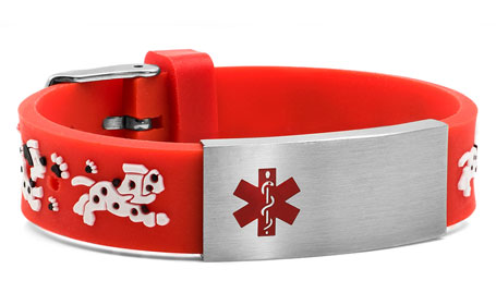 Childrens All Paws on Deck Medical ID Bracelet