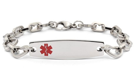 Stainless Steel Heart Link - Medical ID