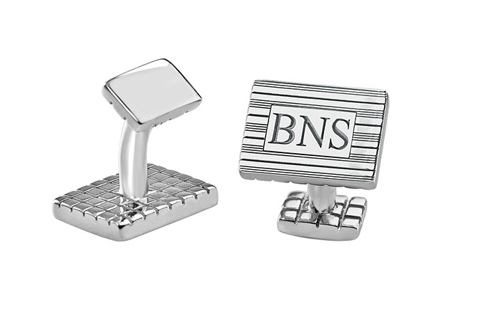 Monogram Rectangle Cufflinks