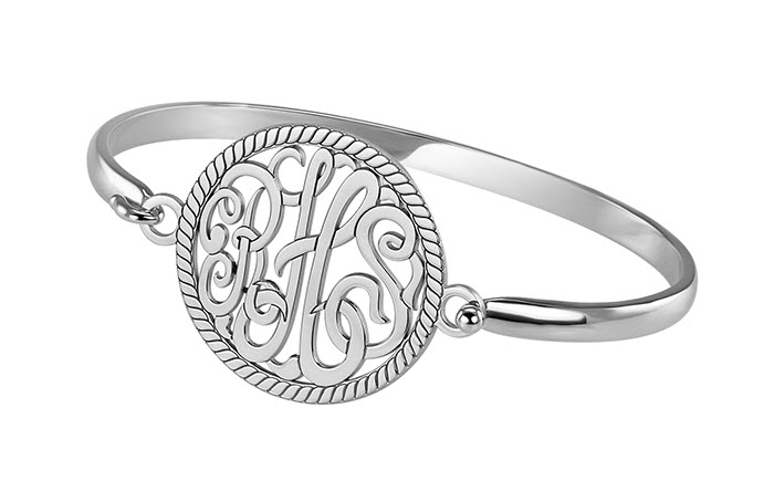 Personalized Curved Bangle Bracelet