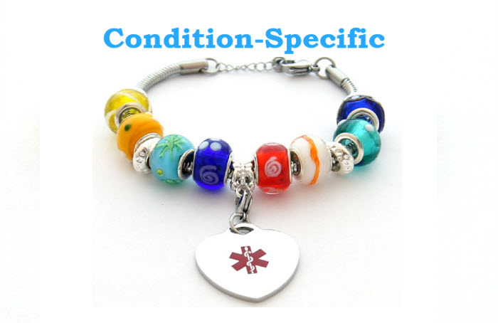 Condition Specific Beaded Multi-Color Bracleet