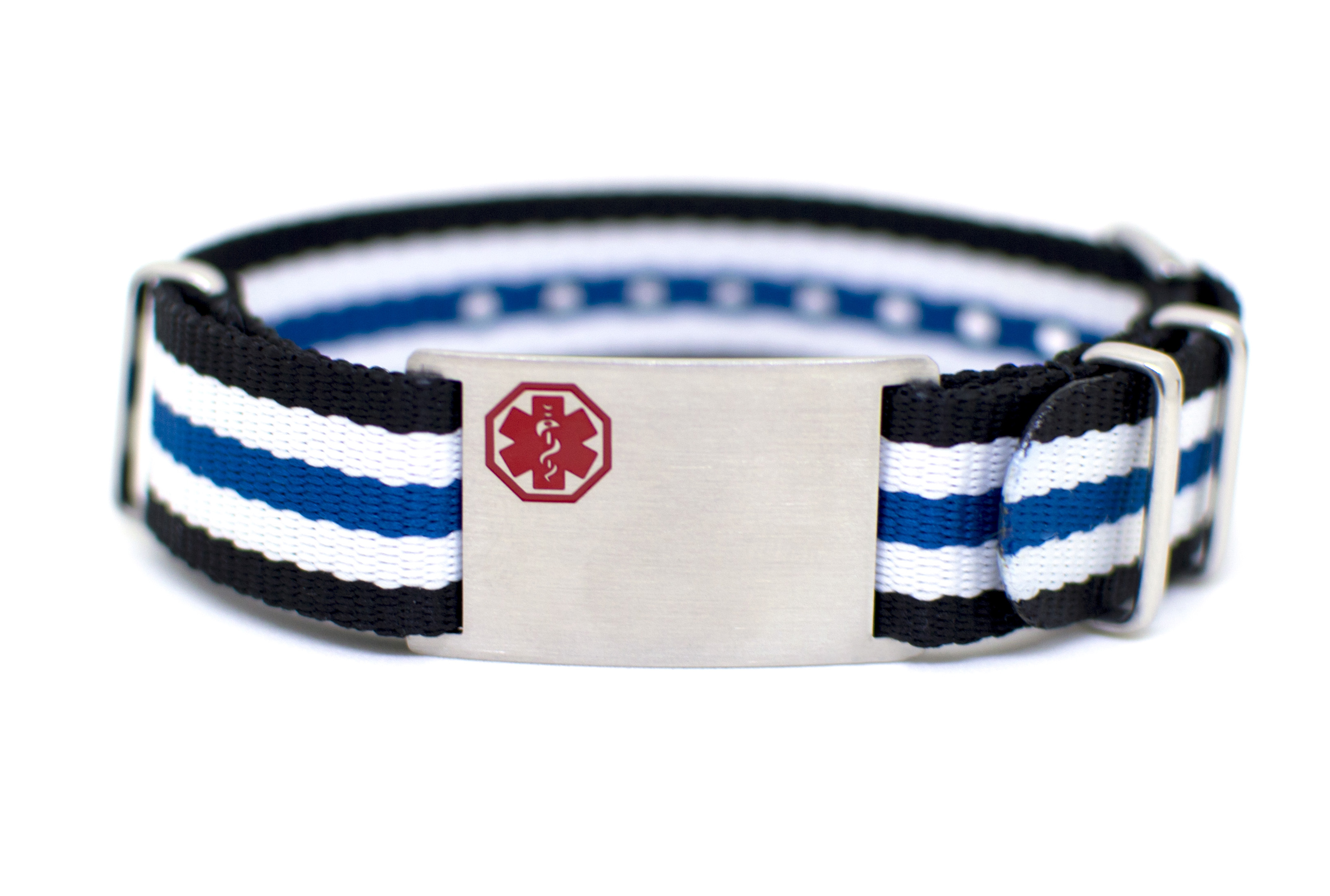 Stripe Nylon Watch Band Bracelet