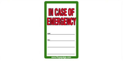 "The Write-on Tattoo ""In Case of Emergency"" Six Pack"