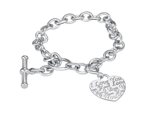 I Love You -  Bracelet in Sterling Silver