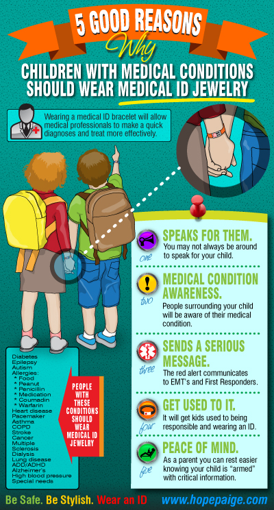 5 good reasons to wear a medical id bracelet infographic